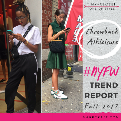 MappCraft | #NYFW Street Style Trend Report Fall 2017 - Throwback Athleisure