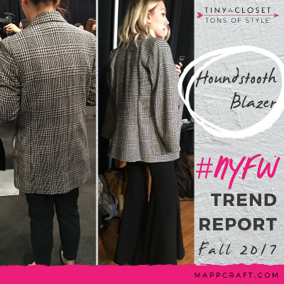 MappCraft | #NYFW Street Style Trend Report Fall 2017 - Houndstooth Blazer