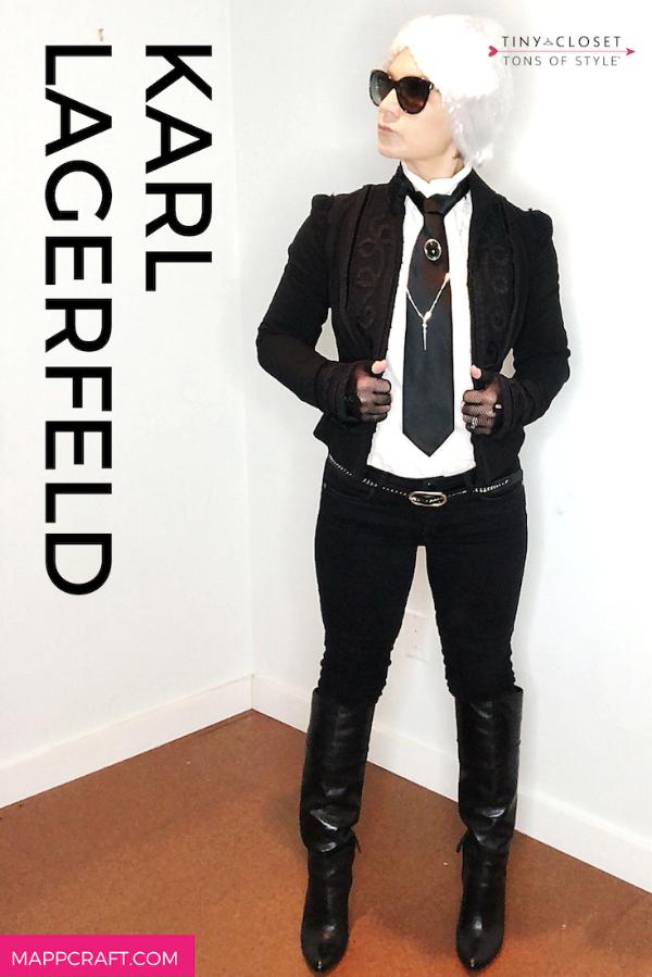 MappCraft | Last Minute Halloween 2018 Costume Idea #1:  Karl Lagerfeld