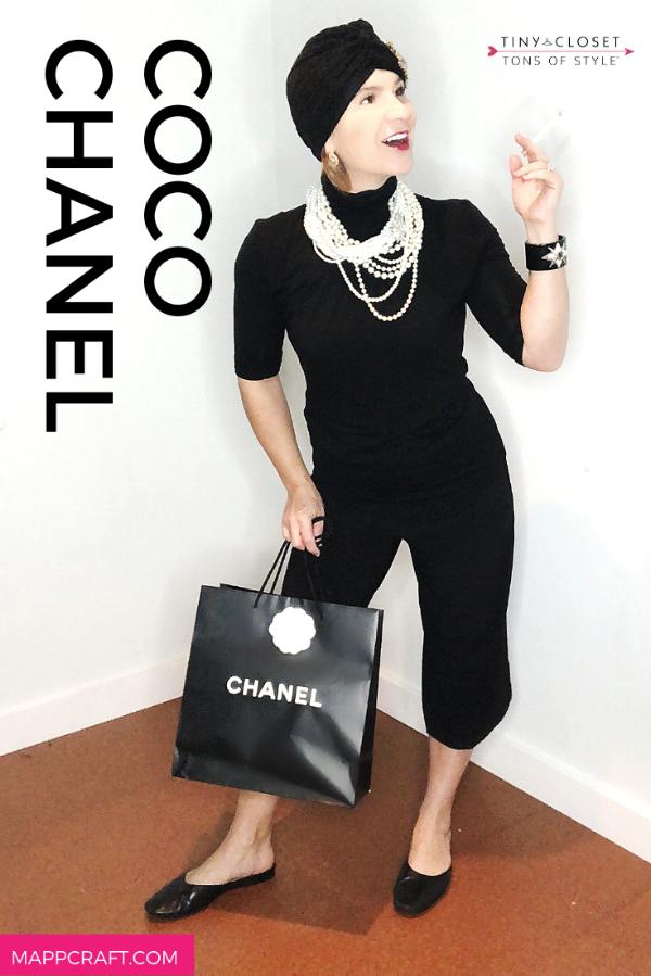 Last Minute Halloween 2018 Costume Idea #2:  Coco Chanel