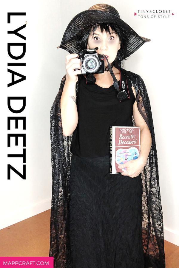 Last Minute Halloween 2018 Costume Idea #4:  Lydia Deetz