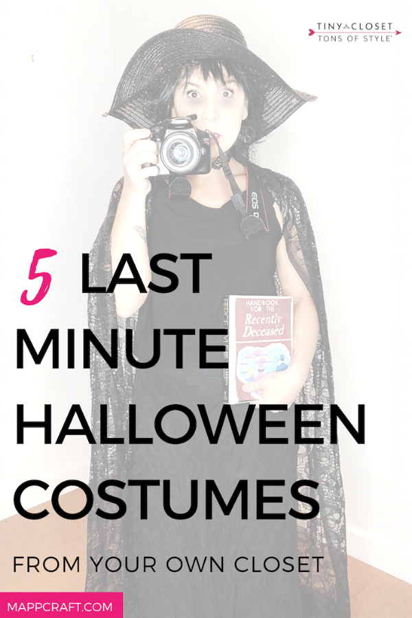 MappCraft | 5 Last Minute Halloween Costumes From Your Own Closet,