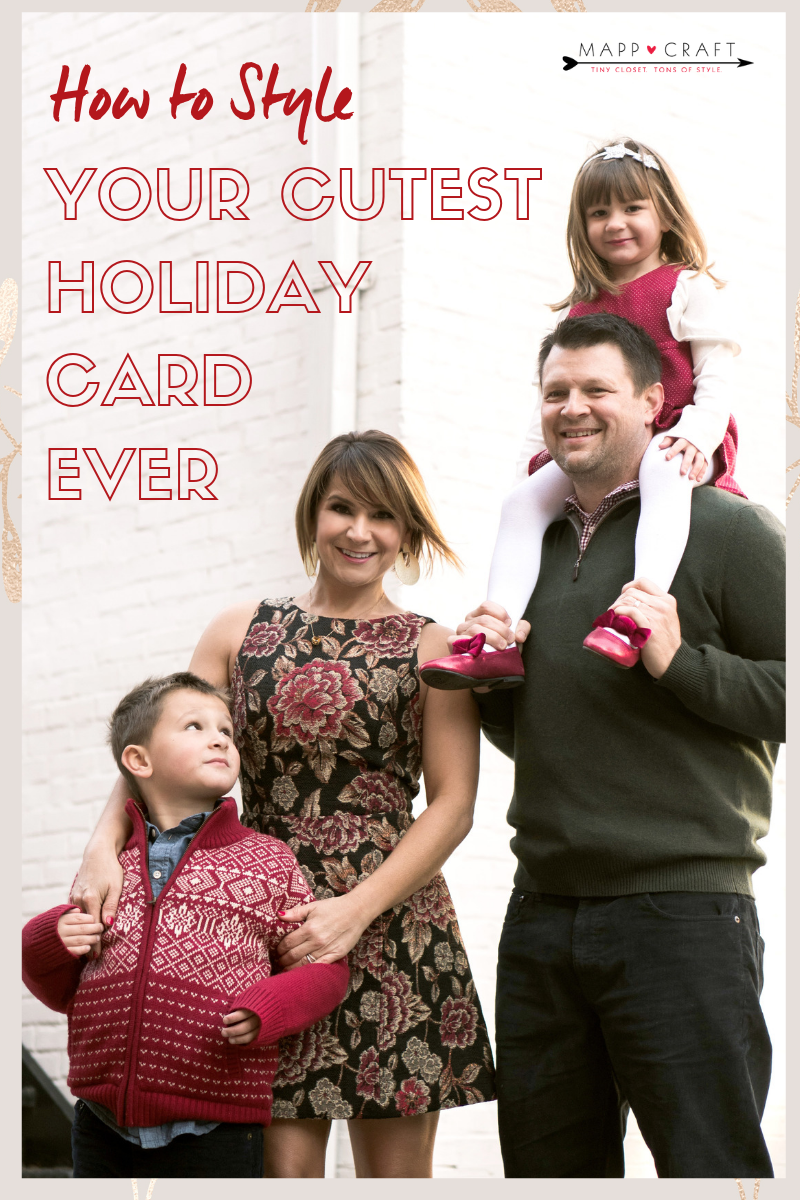 MappCraft | How to Style Your Cutest Holiday Card Ever