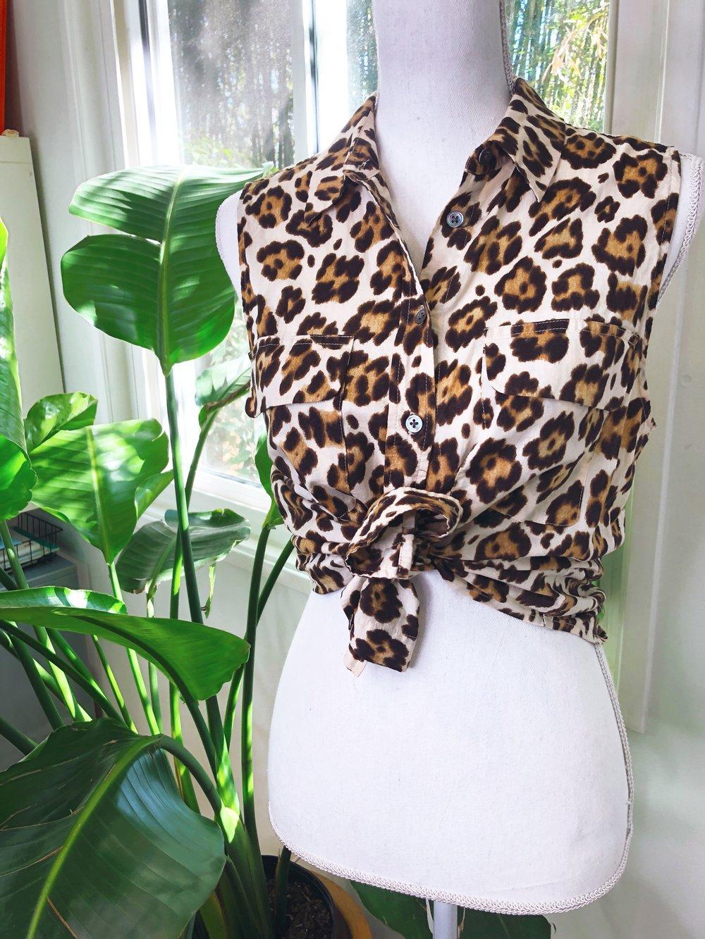 Equipment Cheetah Print Blouse