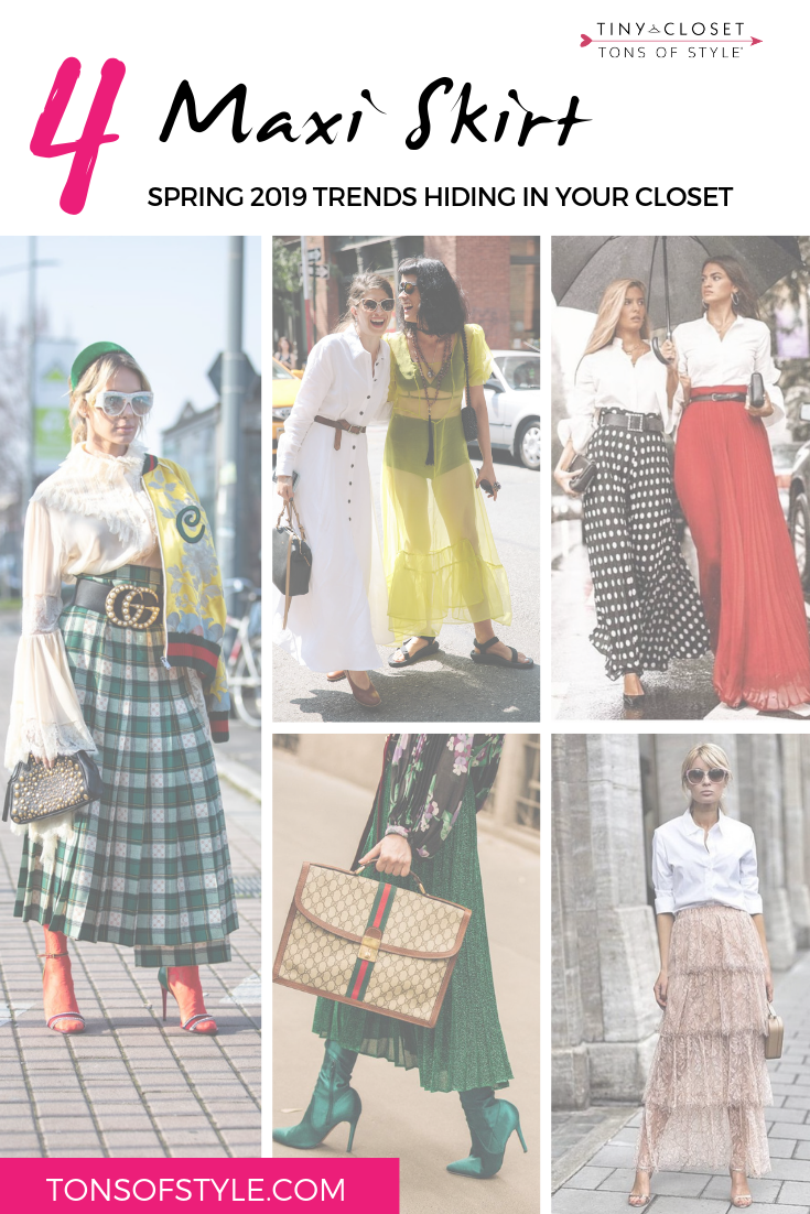 Tiny Closet, Tons of Style | Spring 2019 Trends: Maxi Skirts