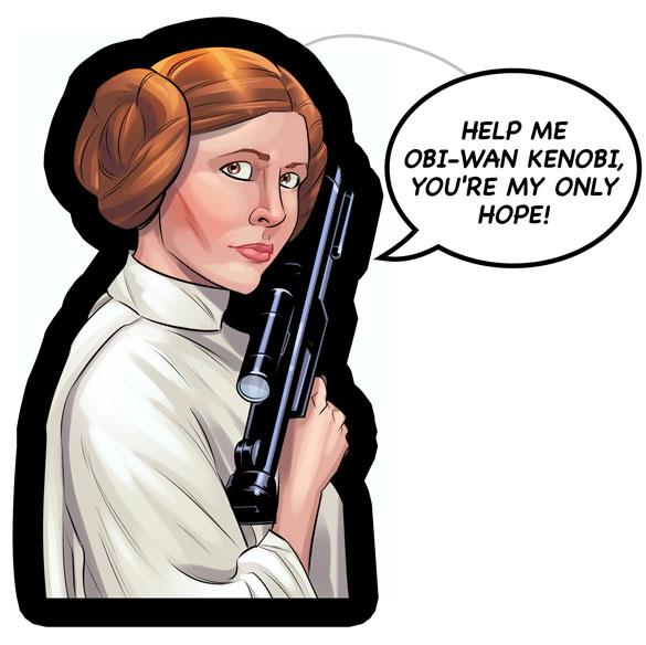 Princess Leia (Star Wars) — Dave Swartz Art