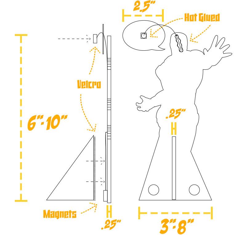 Mini Standee Construction - Dave Swartz Art