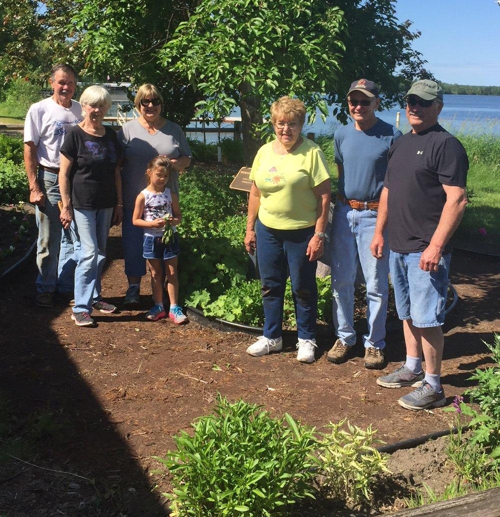 Clean up crew Birch Lake Garden.JPG