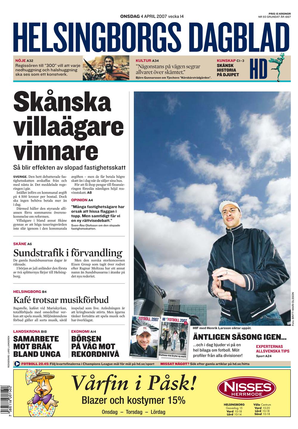 Helsingborgs Dagblad — ELLE KUNNOS DE VOSS d461989f2ce01