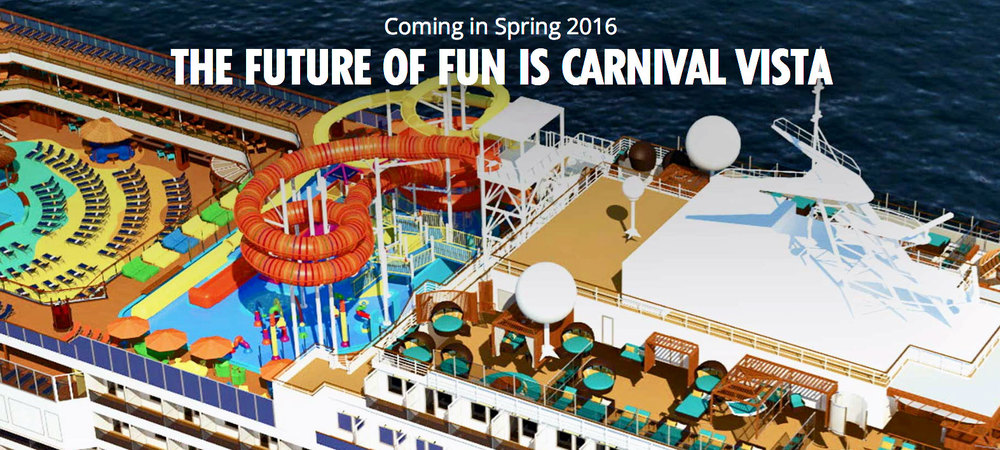 Carnival Vista Launches in 2016
