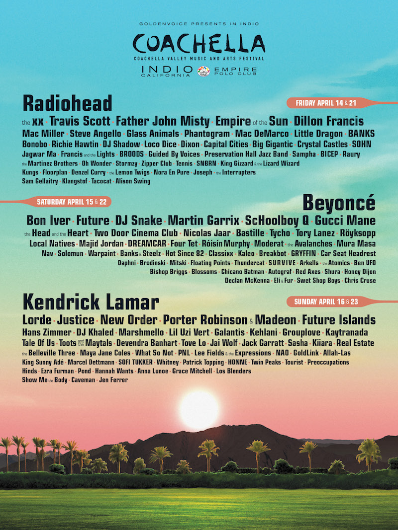 Coachella 2017 Lineup and VIP Access
