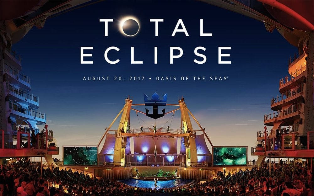 Grab your glasses and prepare to witness the lunar event of a lifetime. On August 21, Oasis of the Seas® will position itself perfectly in the trajectory of a total solar eclipse, 99 years in the making. You'll have the best view possible as the moon passes in front of the sun for a few rare minutes of total darkness — in the middle of the day. It's an out-of-this-world moment at sea, and the celebration continues all sailing-long with more special events and celestial surprises onboard. Only a limited amount of staterooms remain for this unique sailing — book today to reserve your spot