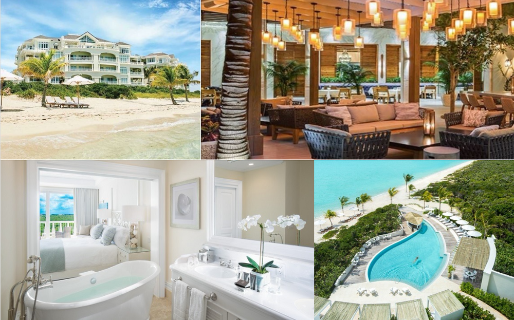 Glamour getaway. Escape to this new paradise on Providenciales' most exclusive beach. Spend sun-drenched days lounging by the pool, riding bikes or relaxing in the spa. Indulge in casual to fine dining. There's even a treehouse for the kids.