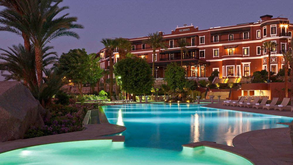 Hotel Sofitel Legend Old Cataract Aswan   Close to boat transportation along the Nile River, this elegant hotel in a 19th-century Victorian palace is a 7-minute walk from artifacts at the Nubian Museum and 19 minutes on foot from the Unfinished Obelisk.  Opulent rooms with chandeliers and views of the Nile River have free Wi-Fi and flat-screen TVs, plus sitting areas, desks and marble bathrooms. Suites have separate sitting areas and butler service; some offer furnished terraces.  Amenities include a fine dining restaurant and 3 other eateries, plus 4 bars, 1 with a terrace. There's also a posh lobby lounge, an outdoor pool, a fitness center and a spa.