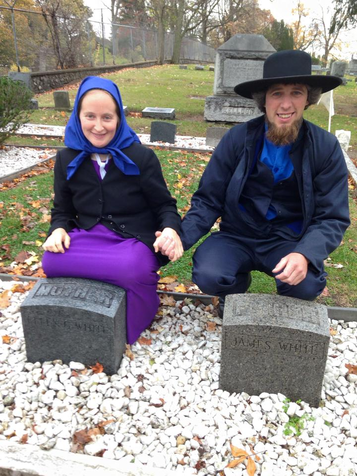 Andy & Naomi at Gravesite of James & Ellen White