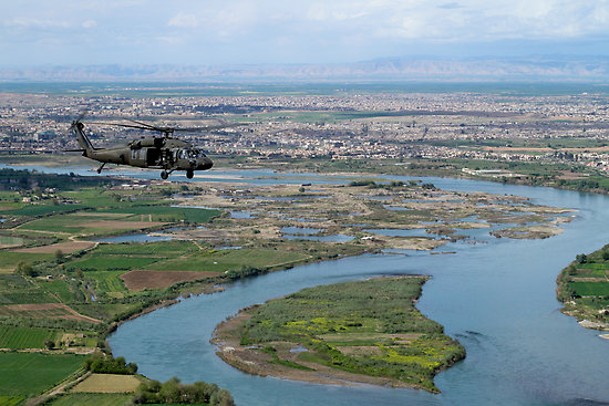 Mosul, Iraq in the distance.