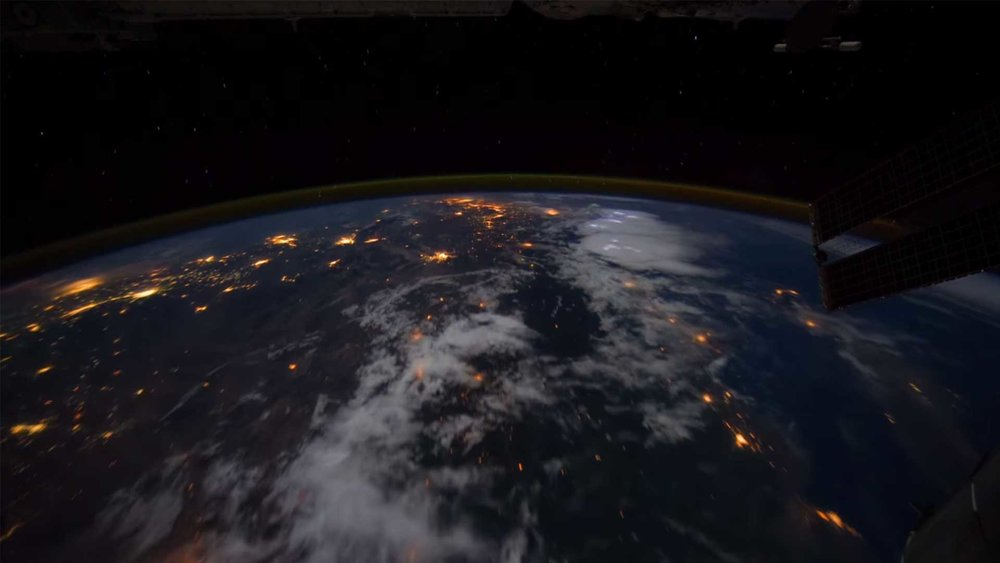View from International Space Station on October 20, 2014.