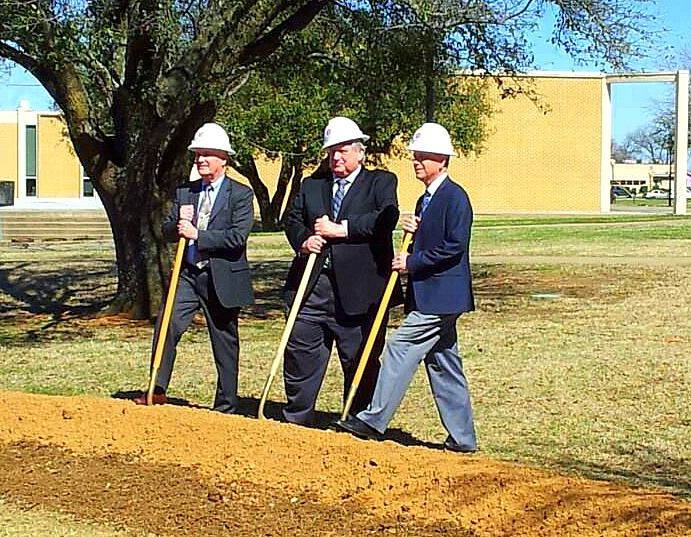 Left to right: Southwestern Union president, Elder Larry Moore, Keene Mayor James Chapline, and SWAU President Ken Shaw