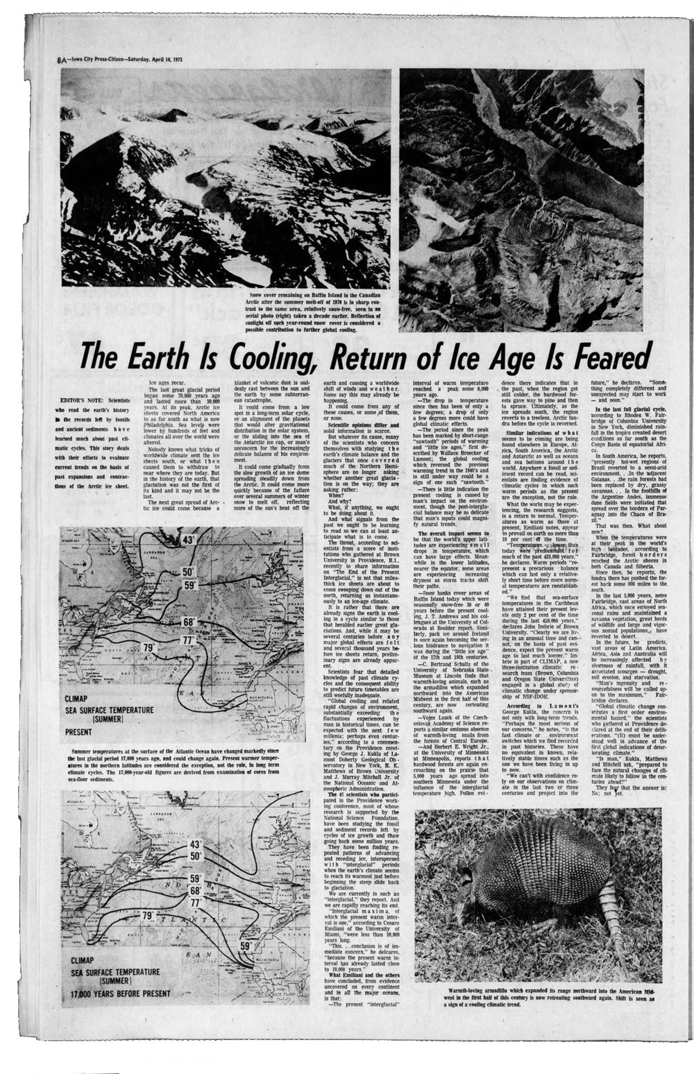 Iowa City Press Citizen--April 14, 1973