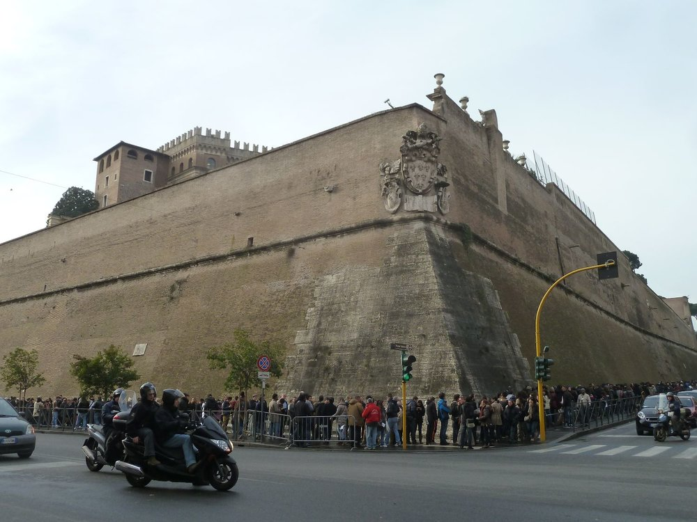Part of the border wall around Vatican City