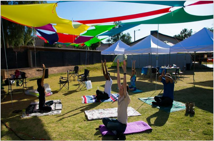 'Adventist' Yoga at Camelback SDA Church, Arizona