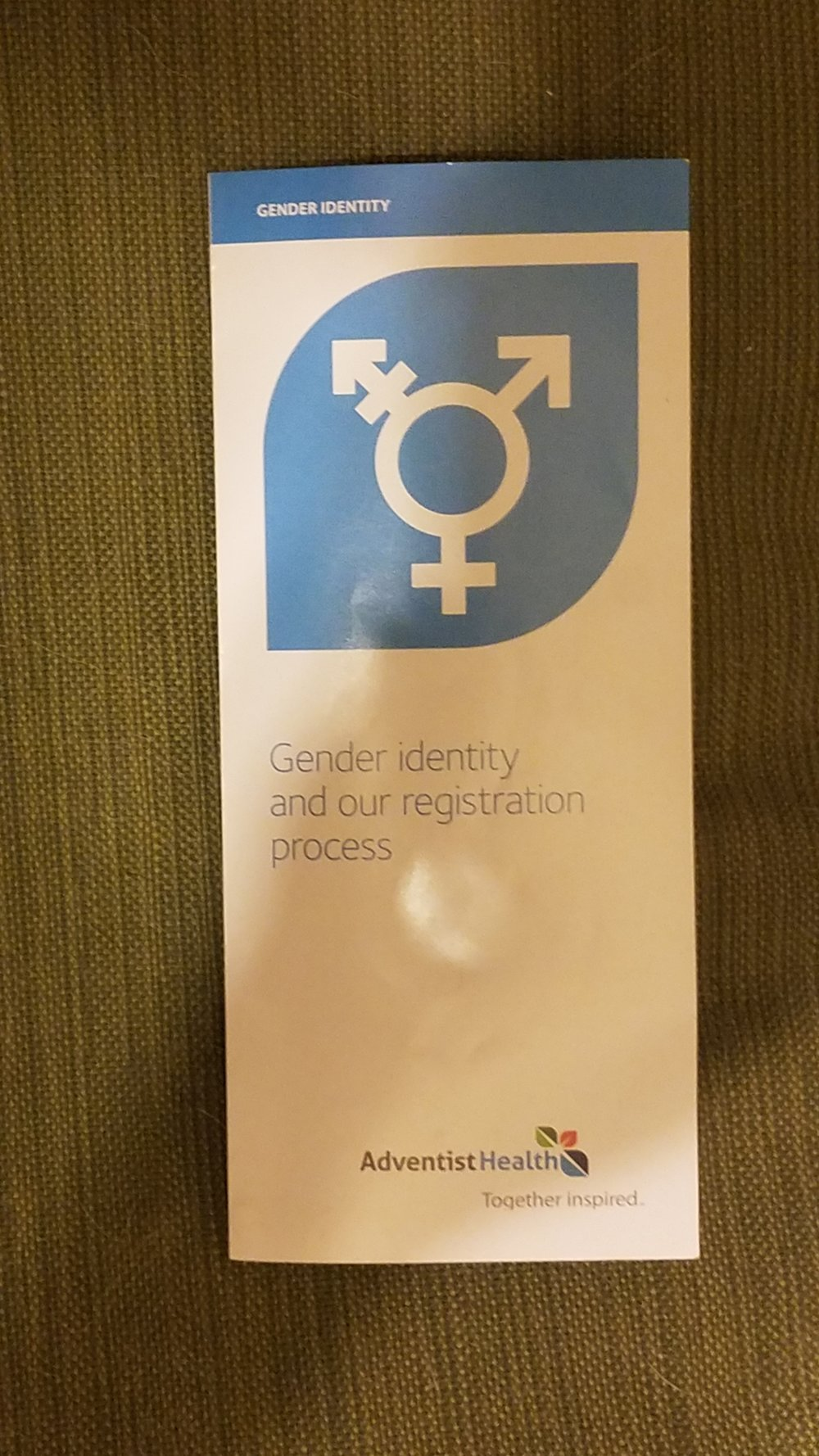 Adventist Health Feather River  brochure on Gender Identity.