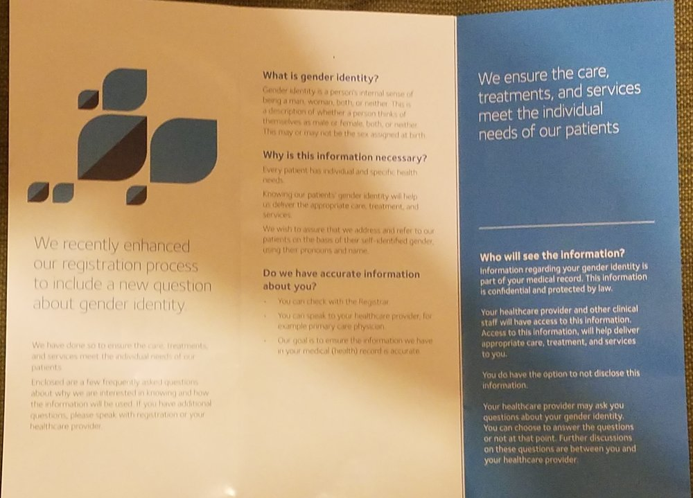 Inside of Gender Identity Brochure