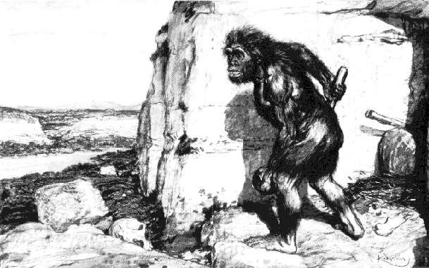 Boule's erroneous, ape-like reconstruction of the La Chapelle Neanderthal