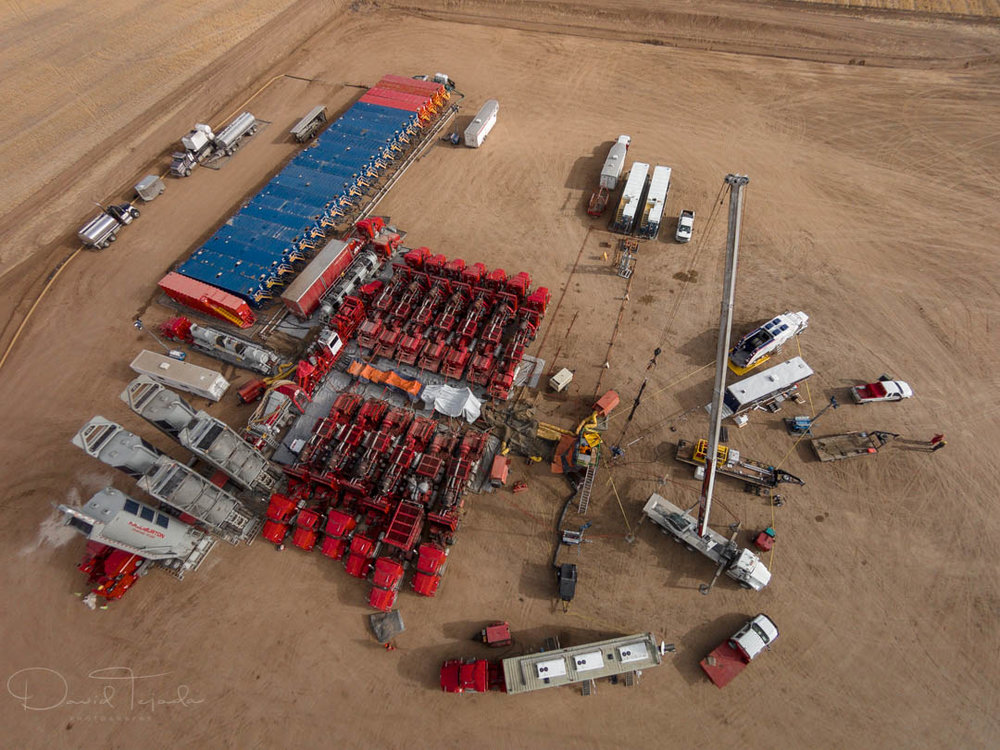 Fracking process.