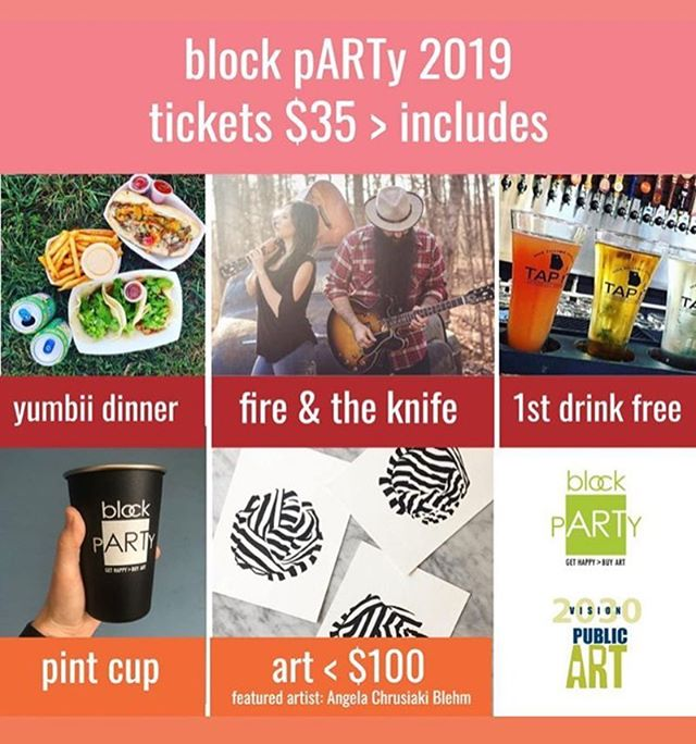 May 10th is the 2nd annual Vision 2030 Block pARTy 🎉 get you tickets now!! www.vision2030blockparty.com ** link also in bio** @vision2030publicart #2019blockparty #vision2030publicart #fireandtheknife #yumbii #tapit #kleenkanteen #angelachrusciakiblehm #artunder100