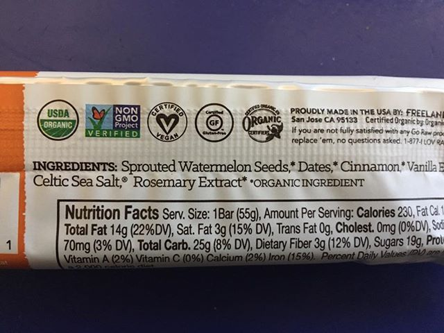 For anyone who thought watermelon seeds weren't edible...check out this new protein bar from @go_raw!