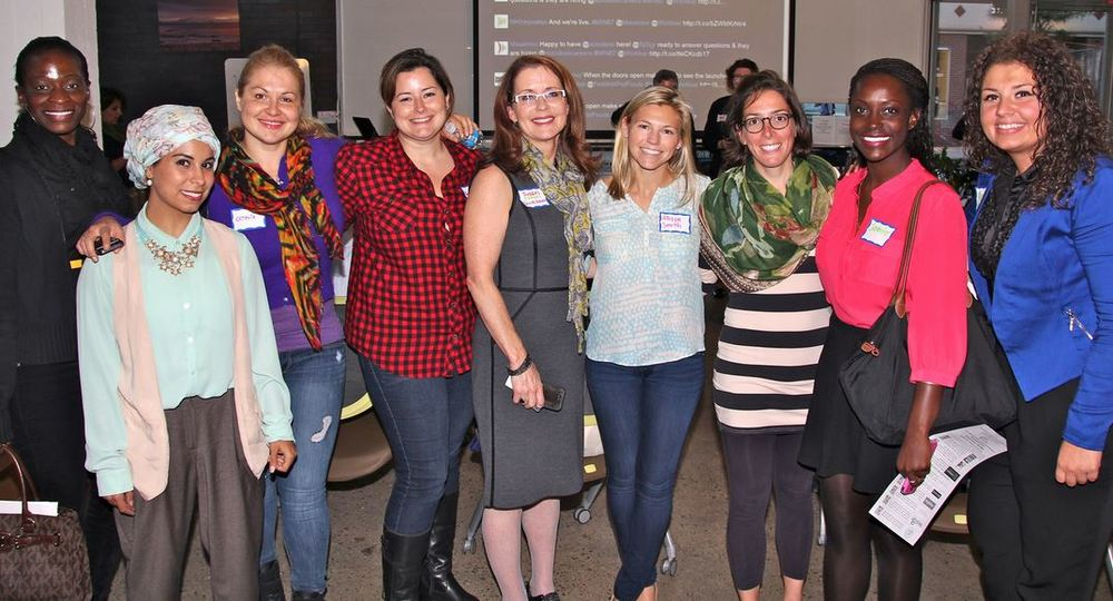 A group of entrepreneurs at last year's Mass Innovation Night: Women Founders event.