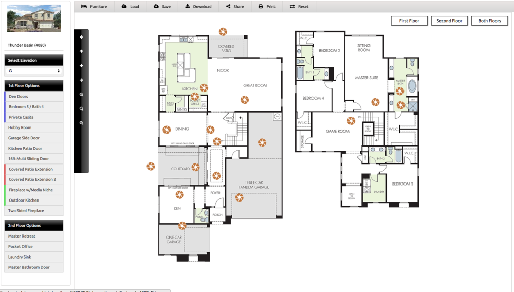 Interactive Floor Plan. IFP With Photo Pops