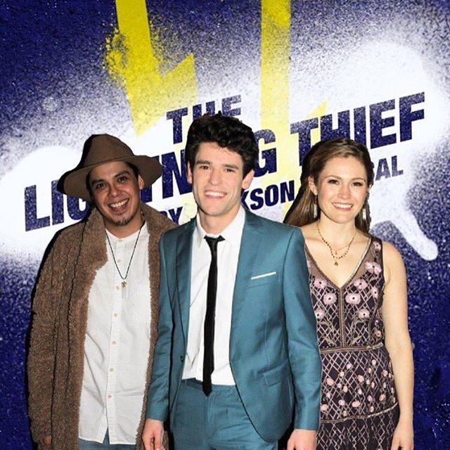 George Salazar, Chris McCarrell, and Kristin Stokes Opening Night of the Lightning Thief