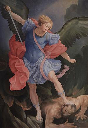 "Archangel Michael 40"" x 28"" Oil on canvas"