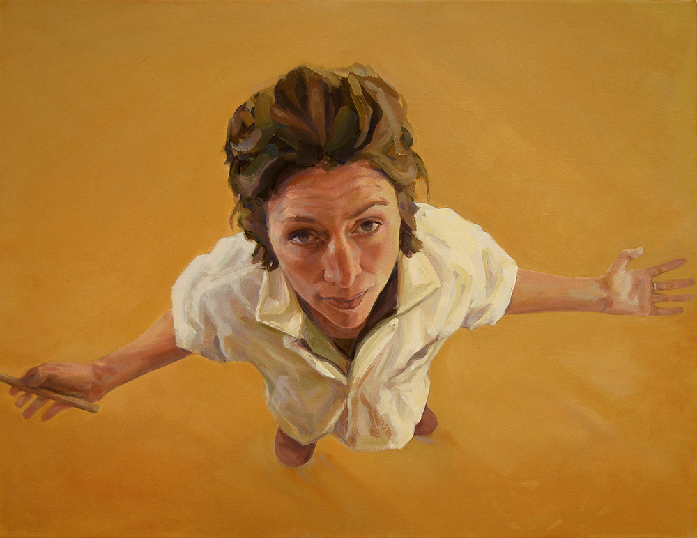 "Glass Ceiling 28"" x 24"" Oil on canvas"