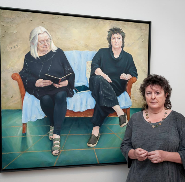 Carol Ann Duffy at the BP Portrait Awards 2017