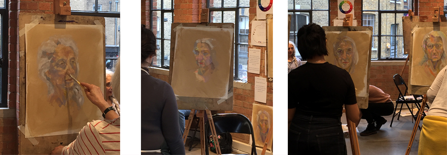 Workshop from 11th April 2018 at Cass Art, Islington