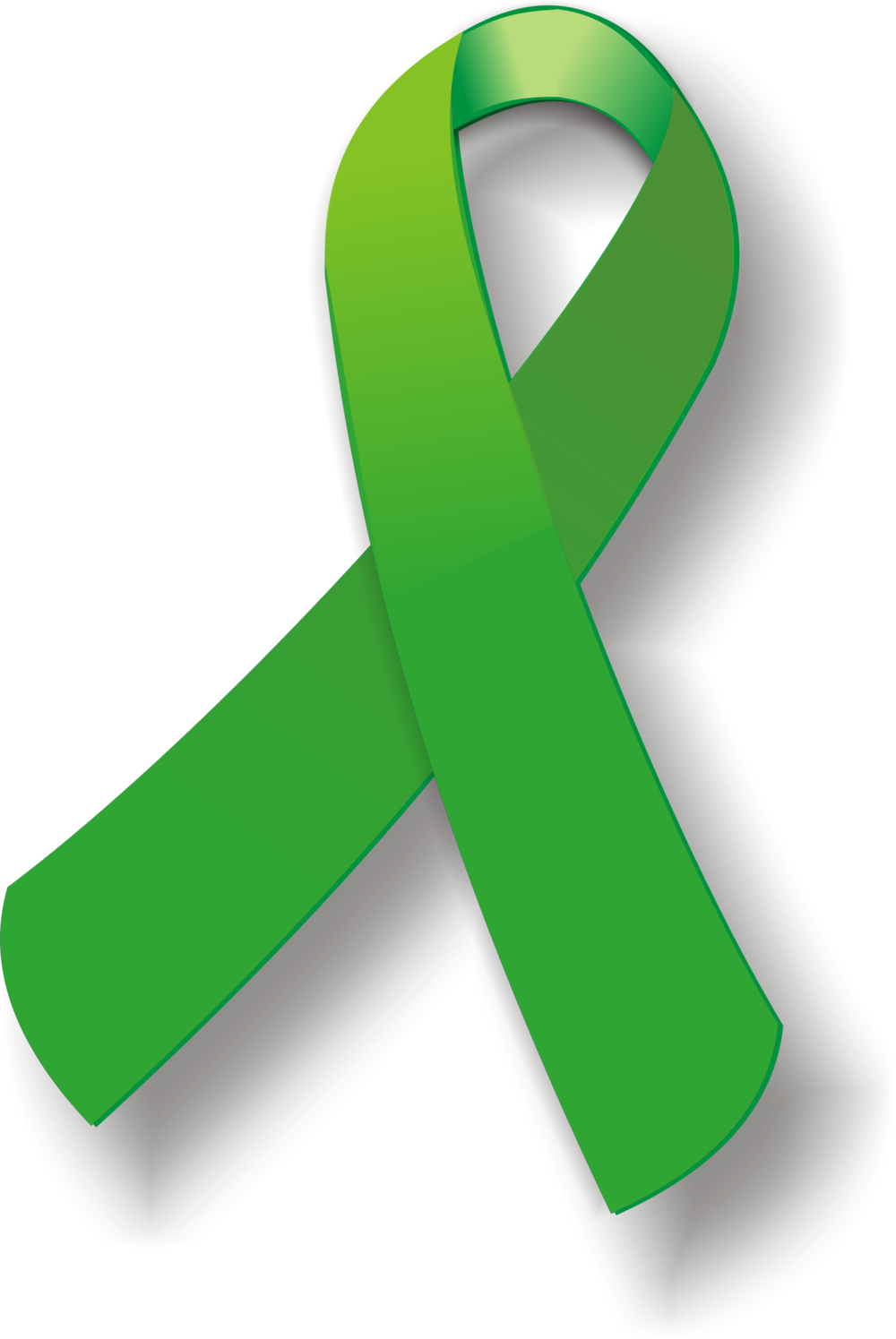 - A green ribbon is used to raise awareness of mental health issues including mental illness, depression, bipolar, and traumatic brain injuries.