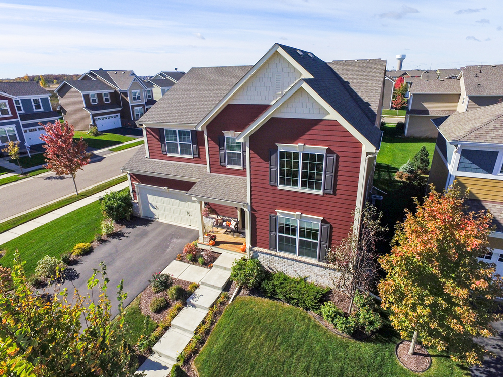 Drones, aerial residential real estate photography