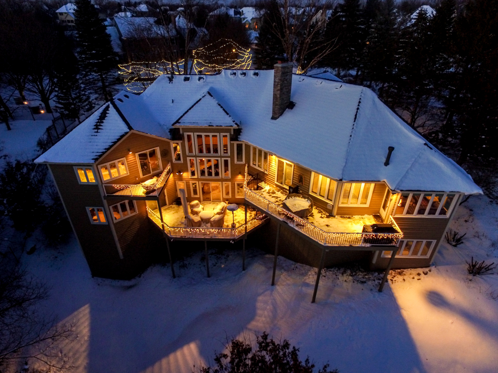 Drones, aerial residential real estate, twilight photography