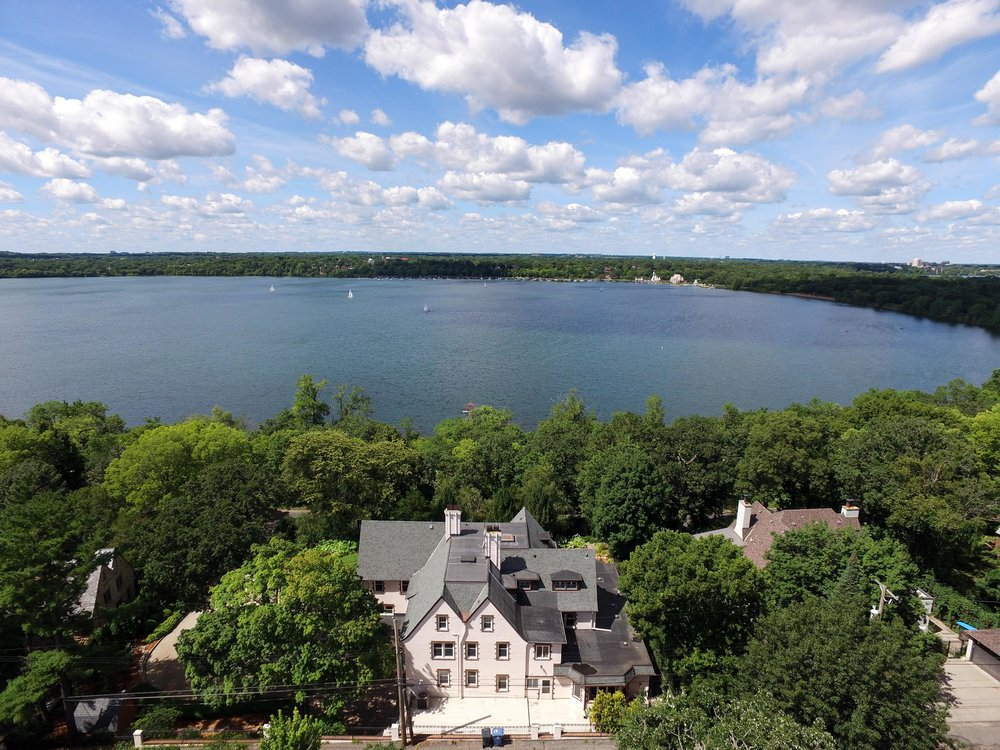 drone real estate lakefront photography
