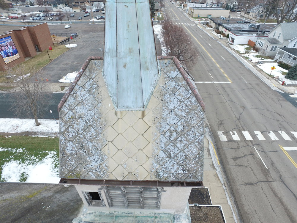 roof inspection drone photography