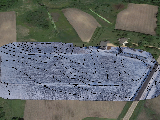 mapping contour drone photography