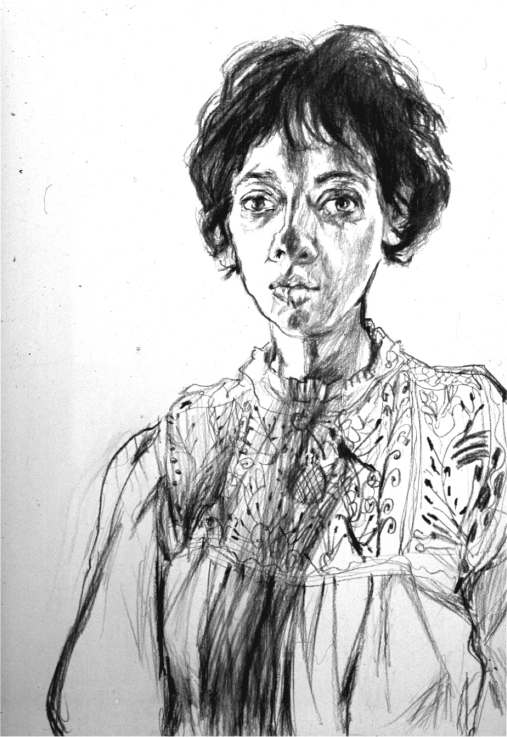 Self Portrait in a Peasant Blouse