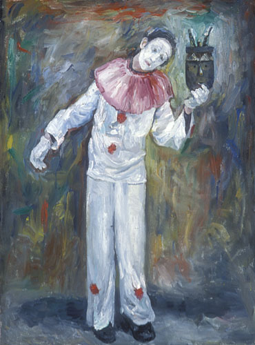 13.  Street Performer Oil on canvas 48x36 inches.jpg
