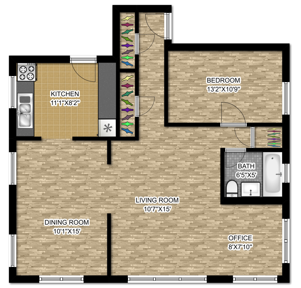 642 W. Cornelia - One Bedroom + Den.png