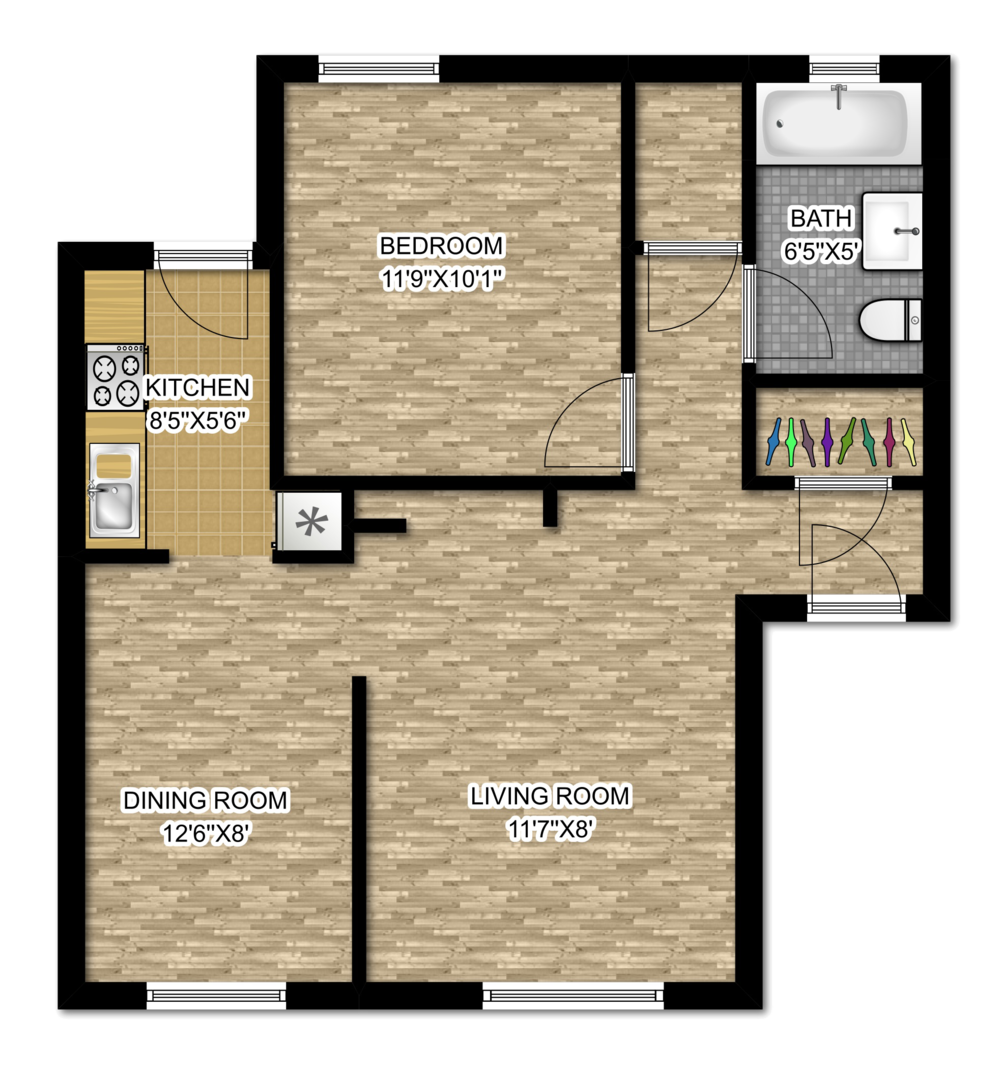 642 W. Cornelia - One Bedroom.png