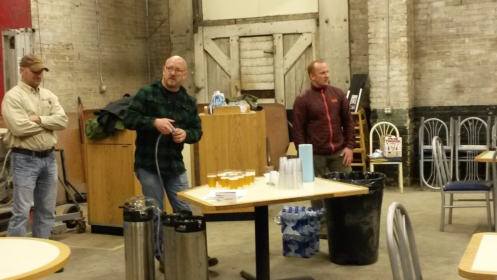 We had our very first tasting this past Friday.  Roundhouse showcased 4 beers that were brewed in our secret test brewery located in Mark's garage.  I would like to thank all the people that attended. We value your feedback.  There will be more tastings in the near future.