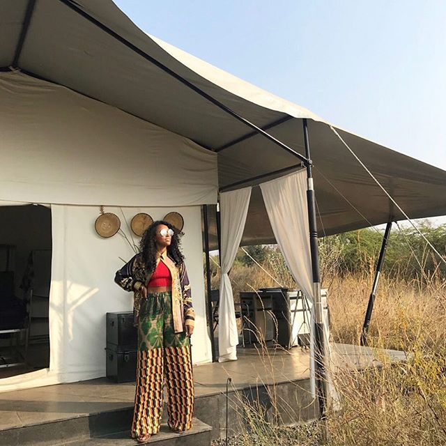Luxe traveler @shionat on a style safari in India. #luxelifeadventures #liveadventurously